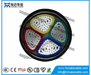 Aluminum conductor PVC insulated Steel tape armored Power Cable 0.6/1KV