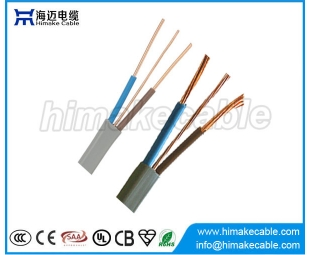BS6004 PVC Insulated and sheathed Flat Electrical Wire Cable 300/500V 450/750V