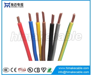 Copper conductor colored PVC electrical wire manufacturer China