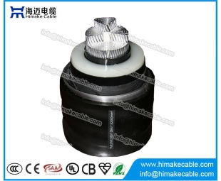 HV Aluminum conductor corrugated Aluminum sheath Power Cables with rated voltages up to 500KV