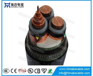 MV Copper  conductor Steel Wire Armoured Power Cable with voltage 3.6/6KV to 26/35KV