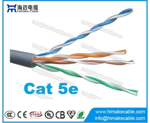 Rede Cat5e UTP cabo AWG24 China Factory para LAN
