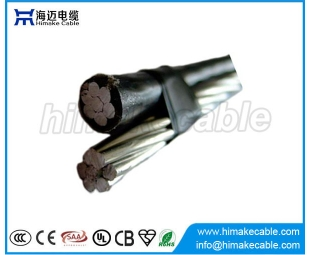Overhead Cable ABC Aerial Bounded Cable Duplex Service drop cable