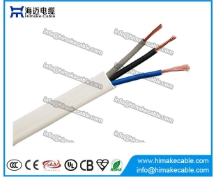 PVC insulated and sheathed Flat Flexible Electrical Wire/Cable 300/300V 300/500V