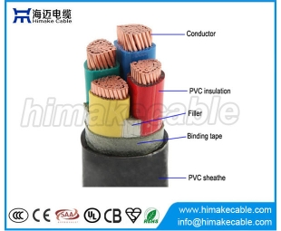 PVC insulated and sheathed Power Cable 0.6/1KV