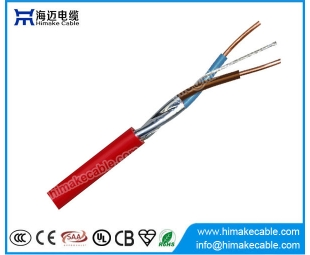 Shielded red fire alarm cable 250V/250V
