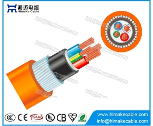 Steel wire armored PVC Circular Orange Cable 0.6/1KV