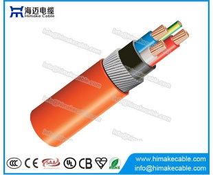 Steel wire armored XLPE Circular Orange Cable 0.6/1KV