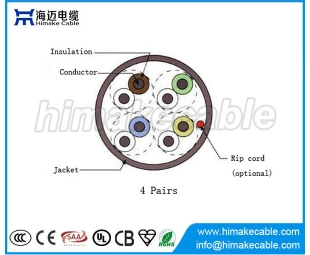 cable UTP CAT 3 LAN con CCA o conductor BC