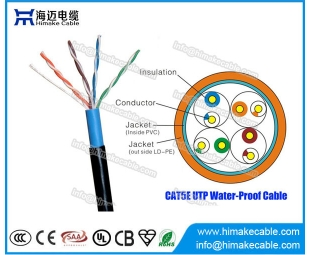 Water proof UTP Cat5e cable CCA BC conductor