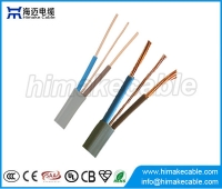 China BS6004 PVC Insulated and sheathed Flat Electrical Wire Cable 300/500V 450/750V factory