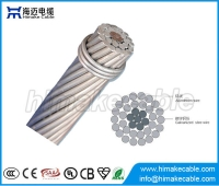China Bare conductor ACSR Aerial Cable Aluminum Conductor Steel Reinforced Conductor factory