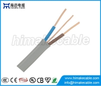 China Flat 3 core electrical cable twin with earth BS standard 6242Y factory