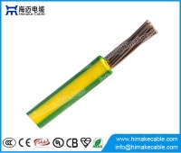 China Green yellow ground wire Ho7V-U IEC60227 cable factory