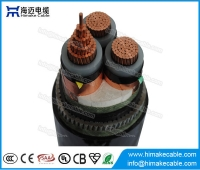 China MV Copper  conductor Steel Wire Armoured Power Cable with voltage 3.6/6KV to 26/35KV factory