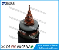 China MV Single core Copper  XLPE insulated Copper tape shielded Power Cable with voltage 8.7/10KV  8.7/15KV  12/20KV factory