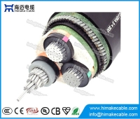 China MV aluminum  conductor Steel Wire Armoured Power Cable with voltage 3.6/6KV to 26/35KV factory