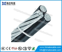 China Overhead Cable ABC Aerial Bounded Cable Triplex Service drop cable factory