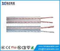 China Oxygen Free Transparent Speaker Cable Wire for Amplifier and Loudspeaker factory