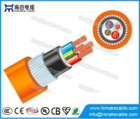 China Steel wire armored PVC Circular Orange Cable 0.6/1KV factory
