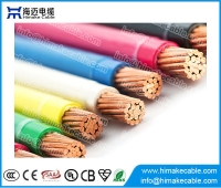 China UL 600V Copper conductor PVC insulated Nylon sheathed Electric Cable THWN THHN factory