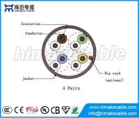 China UTP Cat3 LAN cable with CCA or BC conductor factory