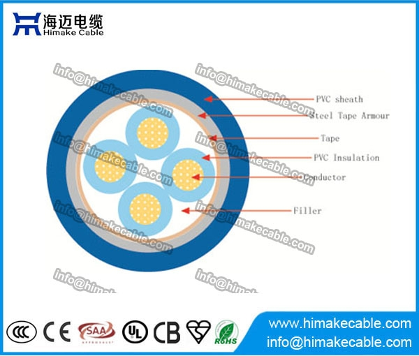 Aluminum Conductor Pvc Insulated Steel Tape Armored Power