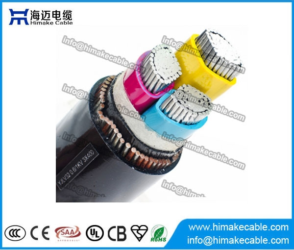 Aluminum conductor PVC insulated Steel wire armored Power Cable 0.6 ...