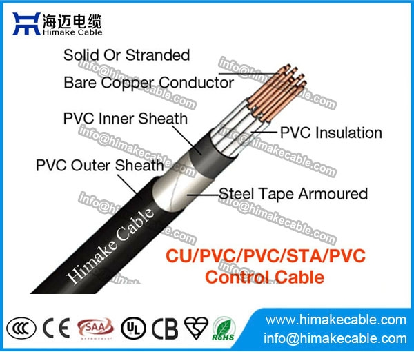 Lszh Insulated Steel Tape Armored Control Cable 450 750v 0
