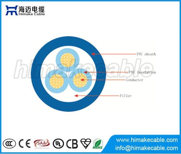 Single-Core PVC isolierten Flexible elektrische Draht-Kabel 300/500V ...