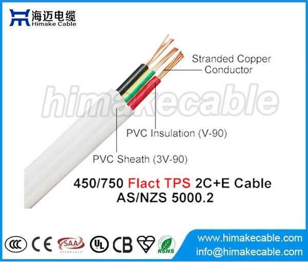 Flat Tps Cable : Pvc insulated and sheathed flat tps cable v