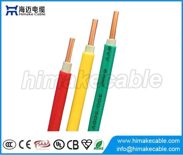 Single-Core isoliert und ummantelte elektrische Draht-Kabel 300/500V ...